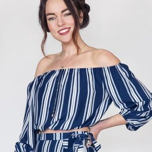 NWT Show Me Your MuMu 'Lima' scrunch crop top